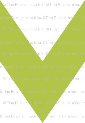 chevron xl lime green