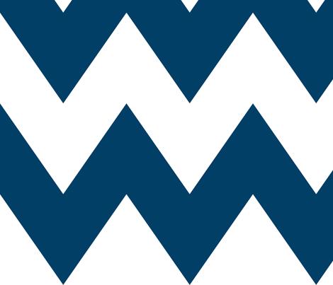 chevron xl navy blue fabric by misstiina on Spoonflower - custom fabric