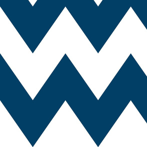 chevron xl navy blue