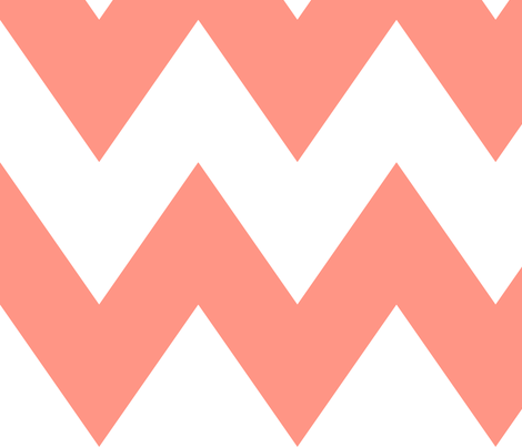 chevron xl peach fabric by misstiina on Spoonflower - custom fabric