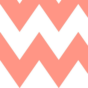 chevron xl peach