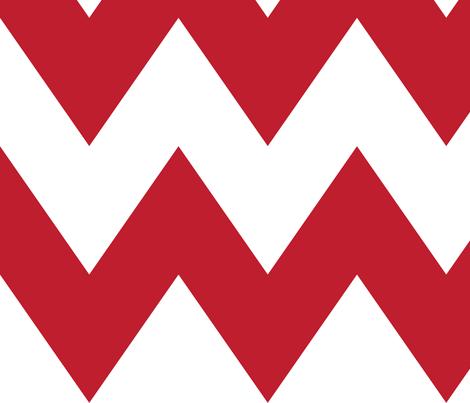 chevron xl red fabric by misstiina on Spoonflower - custom fabric