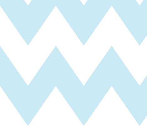chevron xl ice blue fabric by misstiina on Spoonflower - custom fabric
