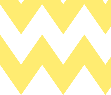 chevron xl lemon yellow fabric by misstiina on Spoonflower - custom fabric