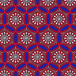 Shashiko Circle American Tile