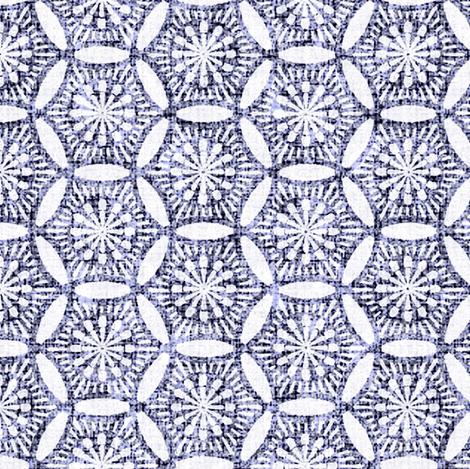 Shashiko  Circle Antiqued fabric by keweenawchris on Spoonflower - custom fabric