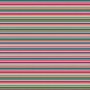 Pink Green Gold stripe - complementary fabric