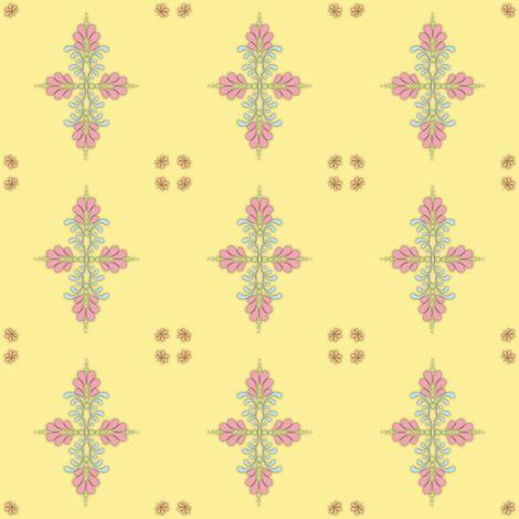 Fabric_kolam_dot_yellow fabric by vannina on Spoonflower - custom fabric