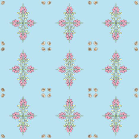 Fabric_kolam_dot_blue fabric by vannina on Spoonflower - custom fabric