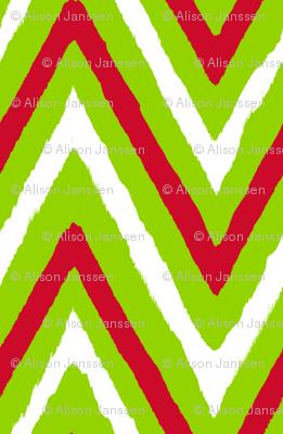 Christmas Chevron red+green