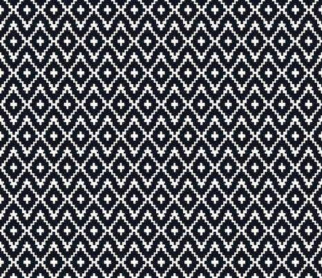 Southwest diamond chevron -  mini fabric by fable_design on Spoonflower - custom fabric