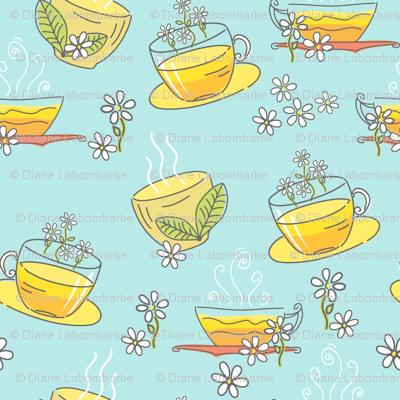 Cute Doodled Herbal Teacups