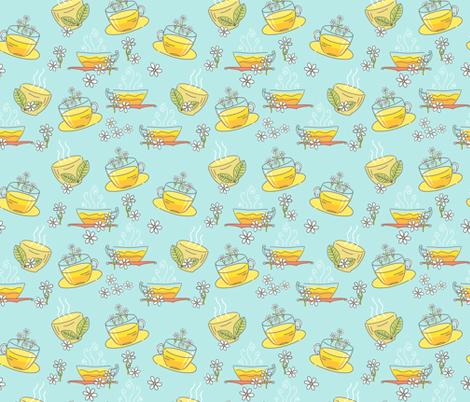 Cute Doodled Herbal Teacups fabric by diane555 on Spoonflower - custom fabric