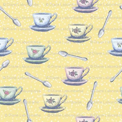 Cute Sketchy Teacups & Spoons