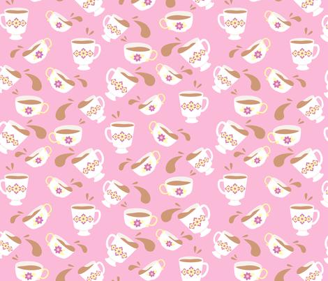 Tea Time fabric by hugandkiss on Spoonflower - custom fabric