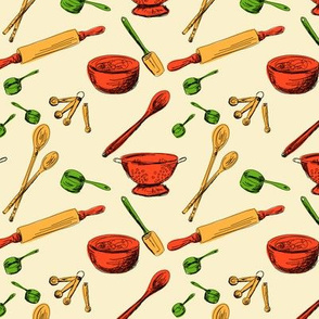 Retro Kitchen Gadgets Pattern