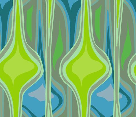 One-Yard Wall Hanging Greens fabric by wren_leyland on Spoonflower - custom fabric