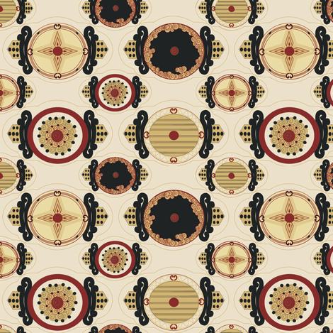 Art deco gift tags fabric by kirpa on Spoonflower - custom fabric