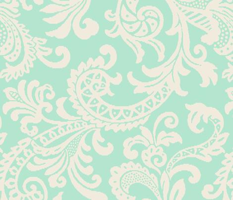 Large Scale Tiffani Paisley fabric by littlerhodydesign on Spoonflower - custom fabric