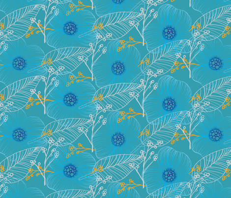 Hand drawn Flora  fabric by raindrop on Spoonflower - custom fabric