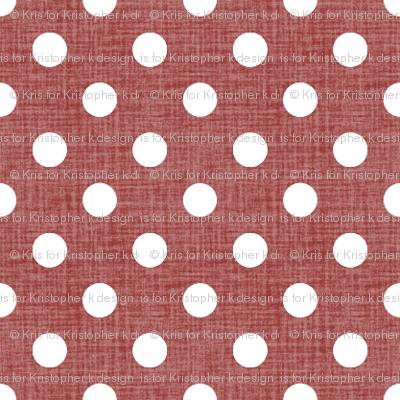 Vintage Christmas Polka Dots