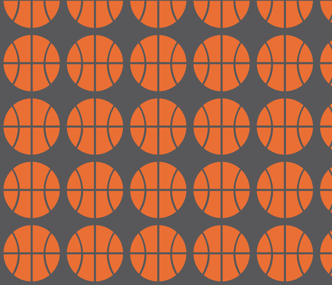 Orange Basketball fabric by audreyclayton on Spoonflower - custom fabric