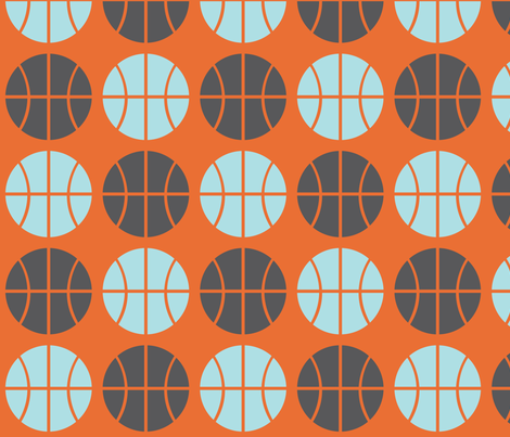 Gray/Blue Basketball fabric by audreyclayton on Spoonflower - custom fabric