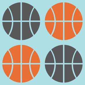 Gray/Orange Basketball