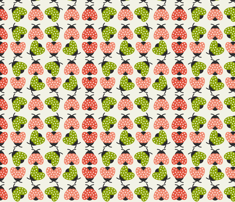 Colorful Ladybugs fabric by mintparcel on Spoonflower - custom fabric