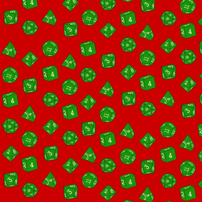 Green Christmas Dice