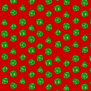 Green Christmas Dice