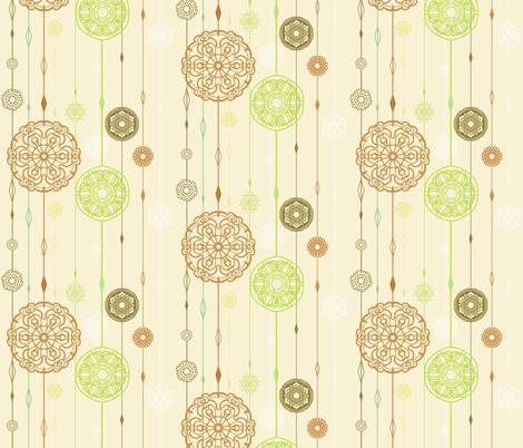 Flora snow  fabric by raindrop on Spoonflower - custom fabric