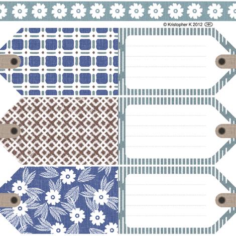 Mini Print Gift Tags fabric by kristopherk on Spoonflower - custom fabric