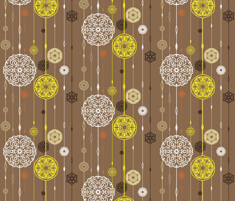 Flora snow in the woods fabric by raindrop on Spoonflower - custom fabric