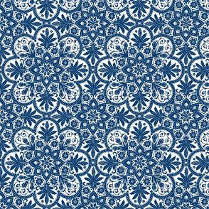 Bourgogne Tile ~  Lonely Angel ~ Blue & White & Bright