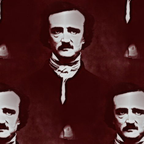 Edgar Allan Poe fabric by peacoquettedesigns on Spoonflower - custom fabric