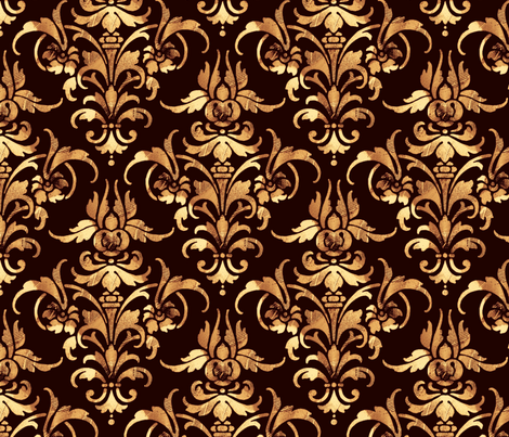Parquet Damask ~ Dark fabric by peacoquettedesigns on Spoonflower - custom fabric