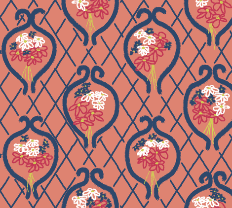 fleur_rouge fabric by pavlovais on Spoonflower - custom fabric