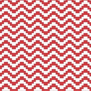 Brick zigzag - red