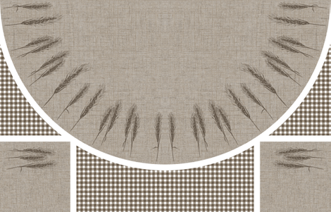 "56"" Round Bistro Tablecloth - Wheat fabric by kristopherk on Spoonflower - custom fabric"