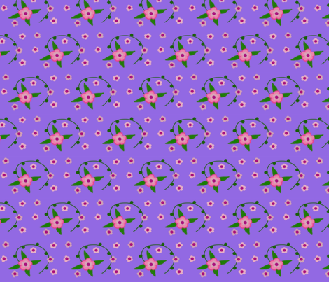 pink posy power fabric by pmegio on Spoonflower - custom fabric