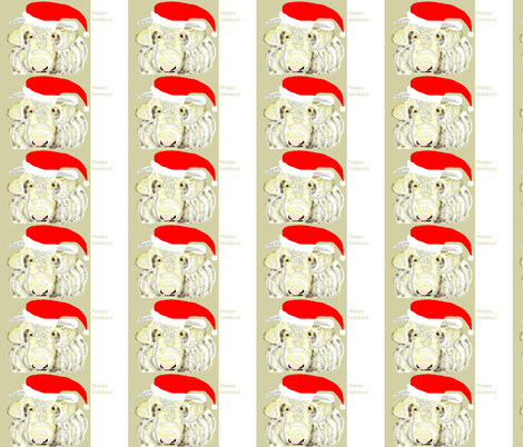 Happy Holiday Cow gift tags fabric by susaninparis on Spoonflower - custom fabric