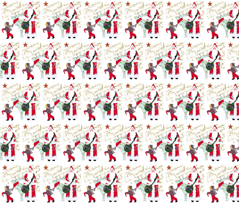 A French Script jChristmas fabric by karenharveycox on Spoonflower - custom fabric