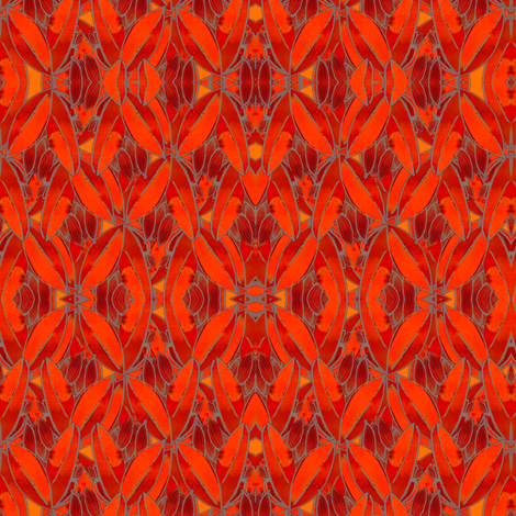 Purple Sage var orange fabric by whimsikate on Spoonflower - custom fabric