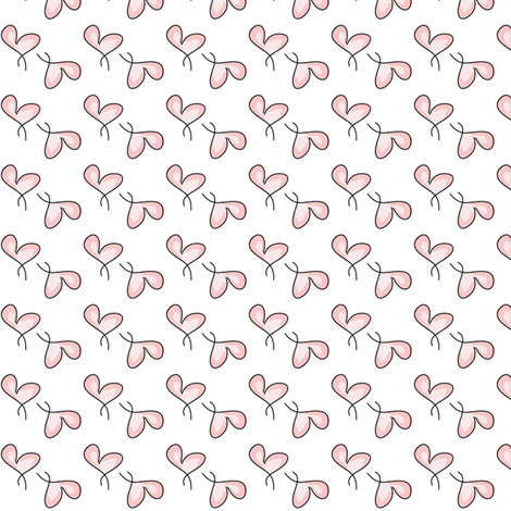 Pink Hearts fabric by witee on Spoonflower - custom fabric