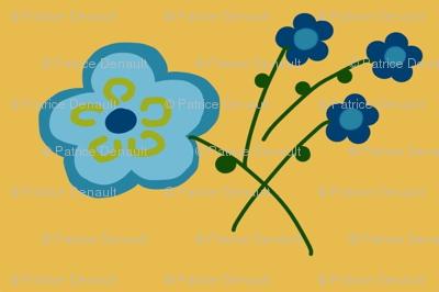 butter blue flower