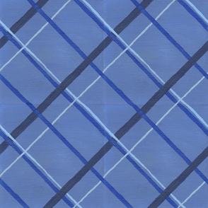 Blue Plaid for bow ties