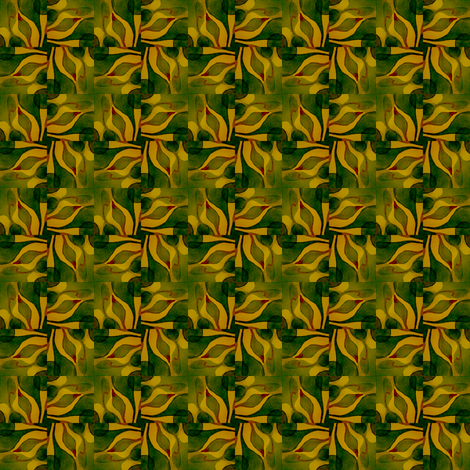 Nature Nurturing the Spark of Life tile03gd2 fabric by whimsikate on Spoonflower - custom fabric