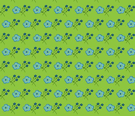 Greenfield Flowers fabric by pmegio on Spoonflower - custom fabric