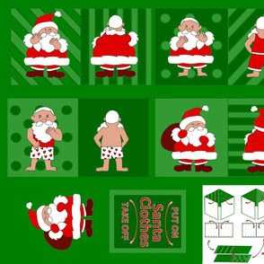 santa claus cloth book